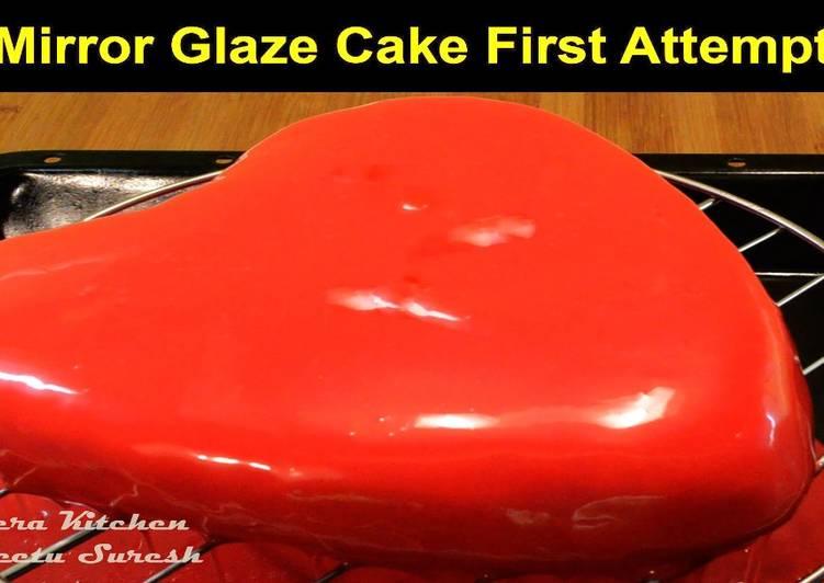 Mirror Glaze Valentine's Day Cake Without Gelatin