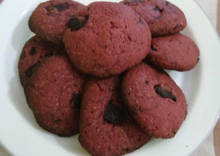 Red chocolate cookies#themechallenge#valentinesdish