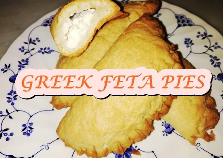 GREEK OVEN BAKED FETA PIES/Tiropitakia Kouroushortcrust pastry