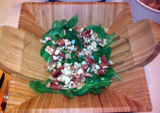 Brenda's Strawberry-Spinach Salad with Cracked Pepper Vinaigrette