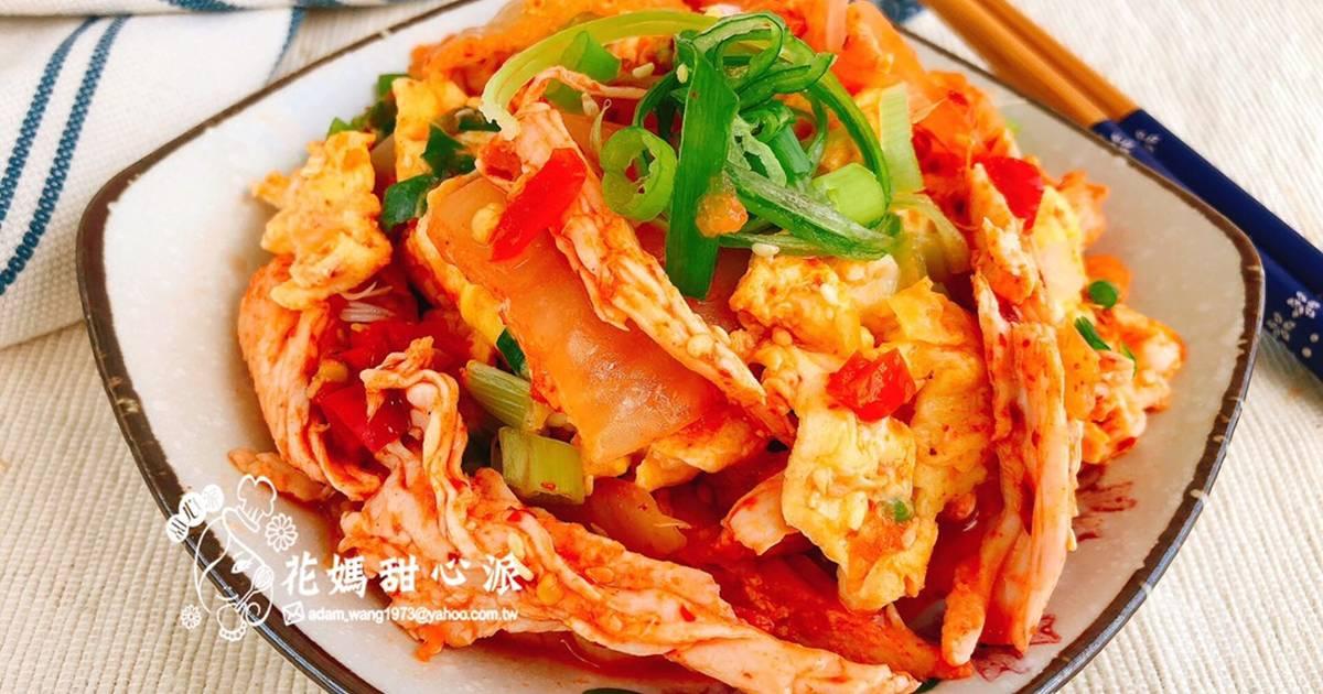 蛋香雞絲泡菜(快速家常創意菜)食譜 by 花媽甜心派 - Cookpad
