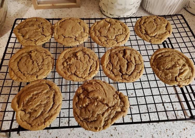 Brown Butter Bourbon Spice Cookies