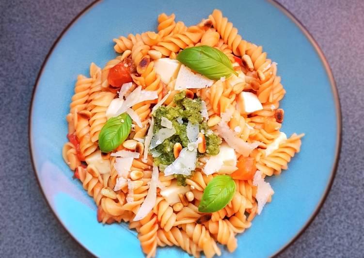 One pot pasta au pesto ou pistou maison