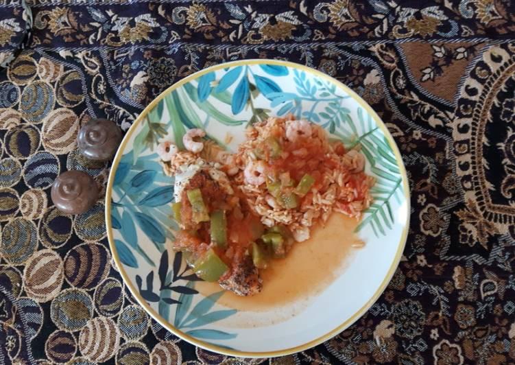 Jambalaya de poulet dietetique inspiré de cookidoo de thermomix, revue par MARIE-THE
