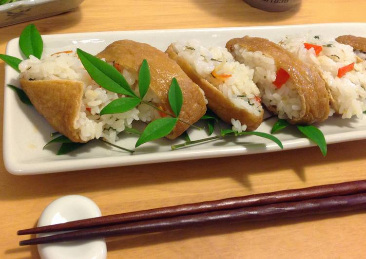 Simmered Abura-age (Deep-Fried Tofu) for Inari Sushi