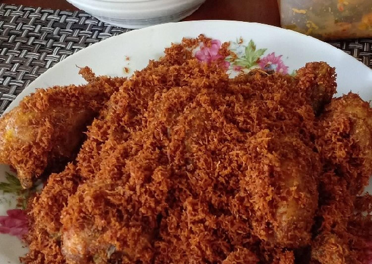 Resep Ayam Goreng Serundeng Remas Nu