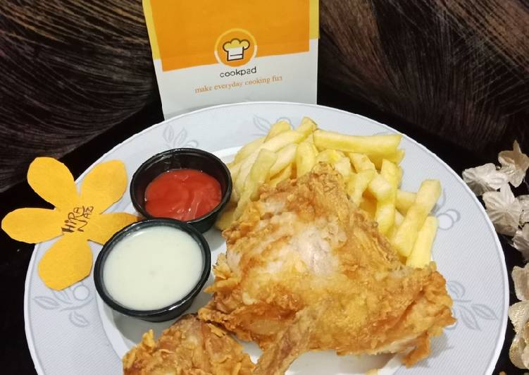 Chicken_Broast _With_French_Fries