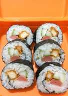 Cara Membuat Sushi Sederhana : membuat, sushi, sederhana, Resep, Sushi, Bento, Sederhana, Rumahan, Cookpad