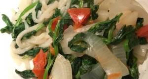 American White Union Vegetables Urdon