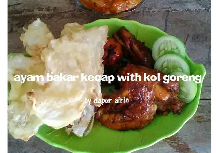 Ayam bakar kecap with kol goreng