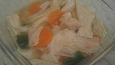 Permalink to Recipe: Tasty Bean Curd and Chicken soup with carrots