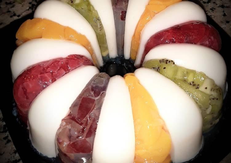 Vanilla Fruit Pudding