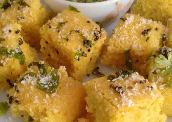 Oats Corn Dhokla