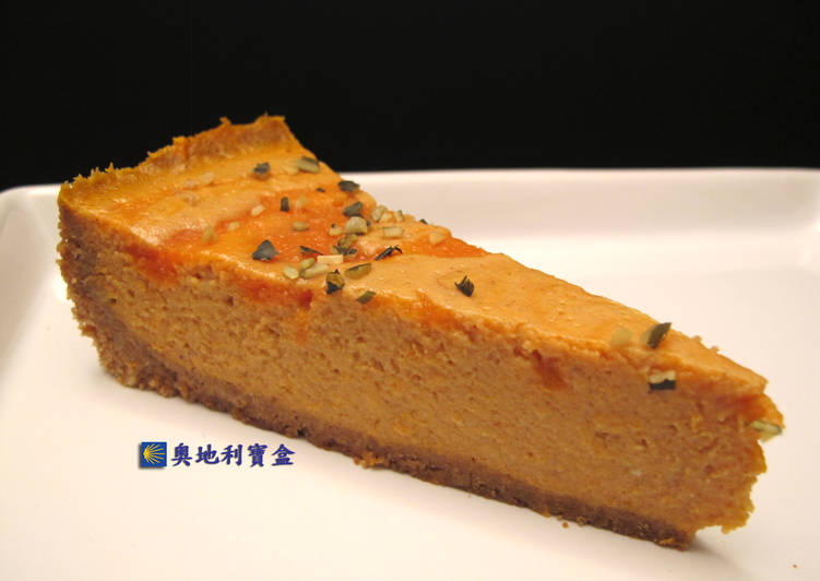 南瓜乳酪蛋糕-紐約風 *自製南瓜泥*食譜 by 奧地利寶盒 - Cookpad