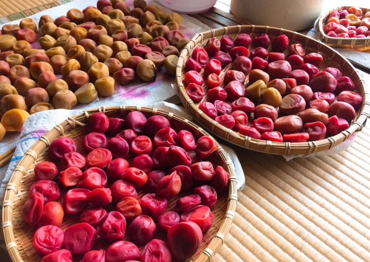 Umeboshi- Japanese pickled plums / salt-preserved plums
