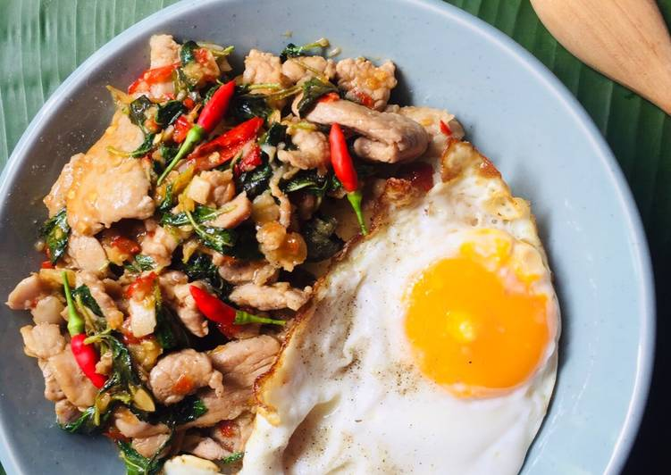 Spicy pork and holy basil