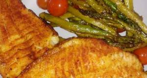 Baked Catfish With Asparagus & Tomatoes
