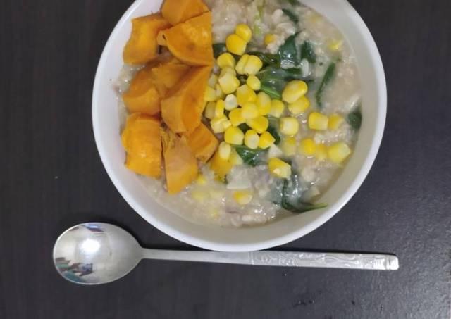 Bubur Sehat Oatmeal Bayam+Jagung+Ubi