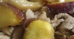 Salty-Sweet Pork Stir-Fry With Sweet Potato