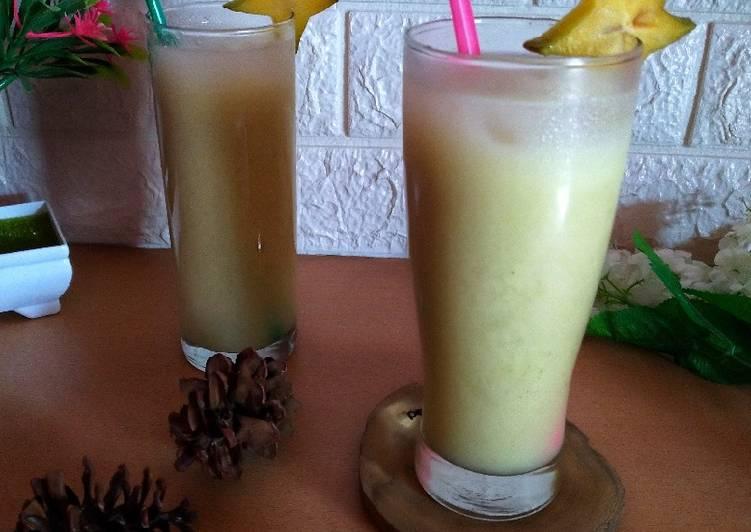 #Star fruit juice with honey
