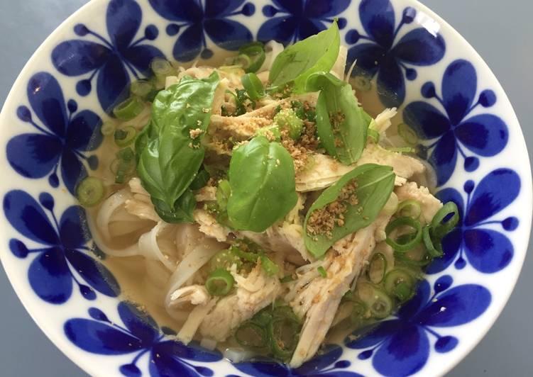 Turkey Pho, Vietnamese rice noodles, Gluten Free