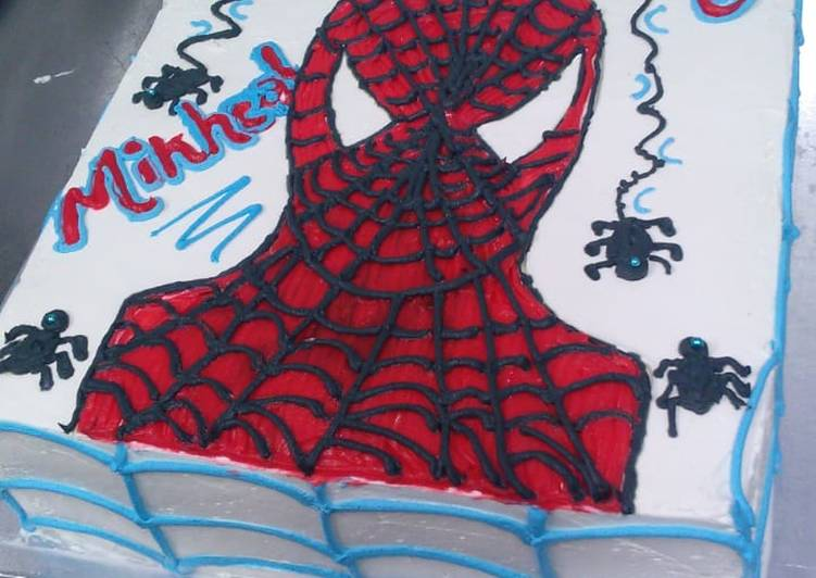 Simple spider man cake