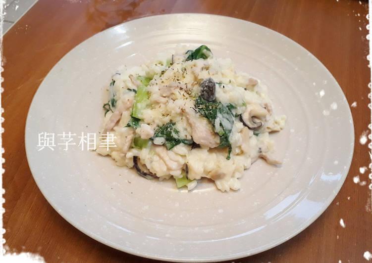 Umeko Chung 發表的 白醬豬肉松本茸燉飯 食譜 - Cookpad