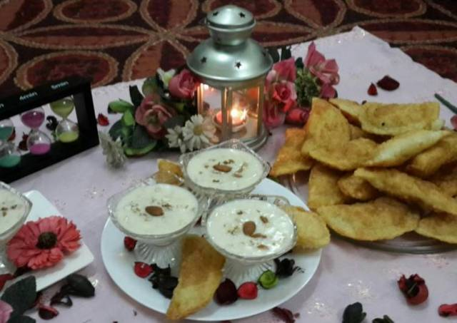 Hyderabadi Kheer Puris/Coconut and Mixed Nuts Calzones