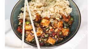 General Tso tofu stir fry