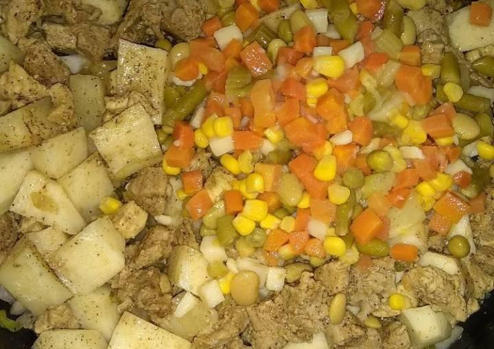 Hearty homemade soup