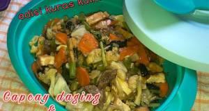 Capcay daging  sayuran