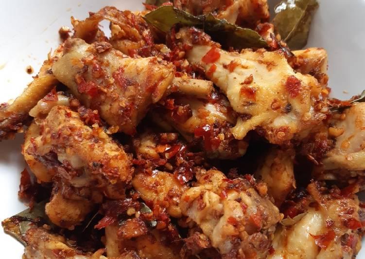 Ayam rica cabe kering tanpa digoreng