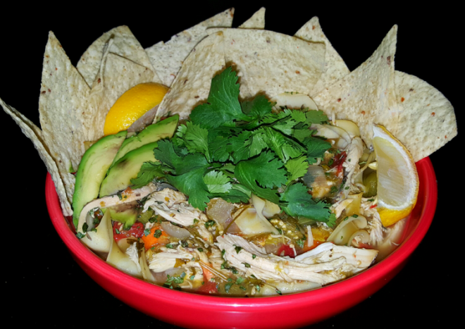 Mike's Spicy Mexican Sick Day Chicken Noodle Soup