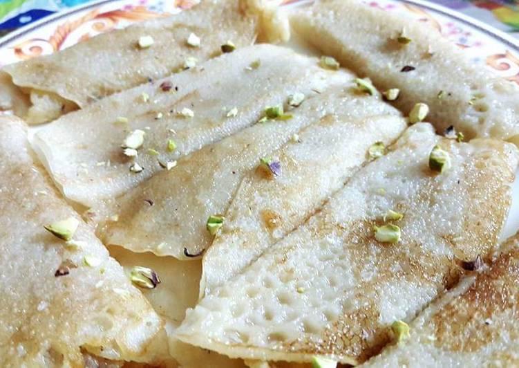 Patisapta pitha(stuffed pancake roll)