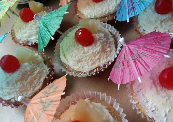 Vickys Pina Colada Cupcakes, GF DF EF SF NF
