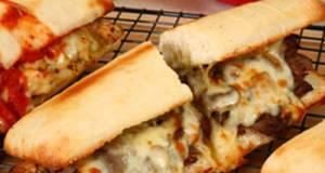Homemade Philly Cheese Steak Sandwich
