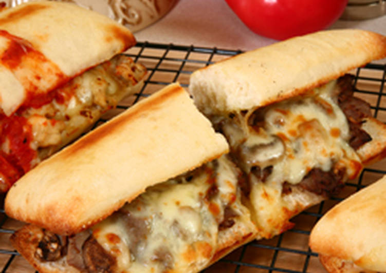 Homemade Philly Cheese Steak Sandwich