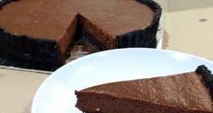 """Keto """"Oreo"""" Crusted Chocolate Cheesetart Sugar & Gluten #Ketopad"""