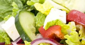 Light Lettuce And Feta Cheese Salad