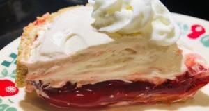 Inverted Holiday Cream Cheese Cherry Pie 🥧