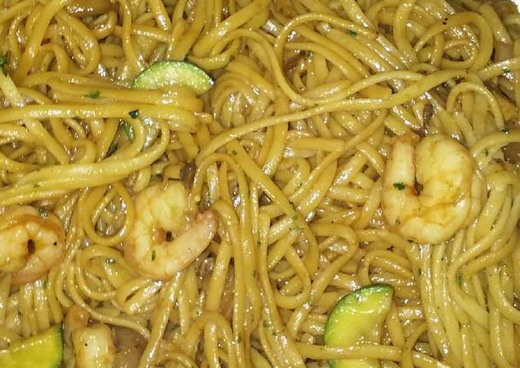 """Thai"" Noodles with Shrimp"