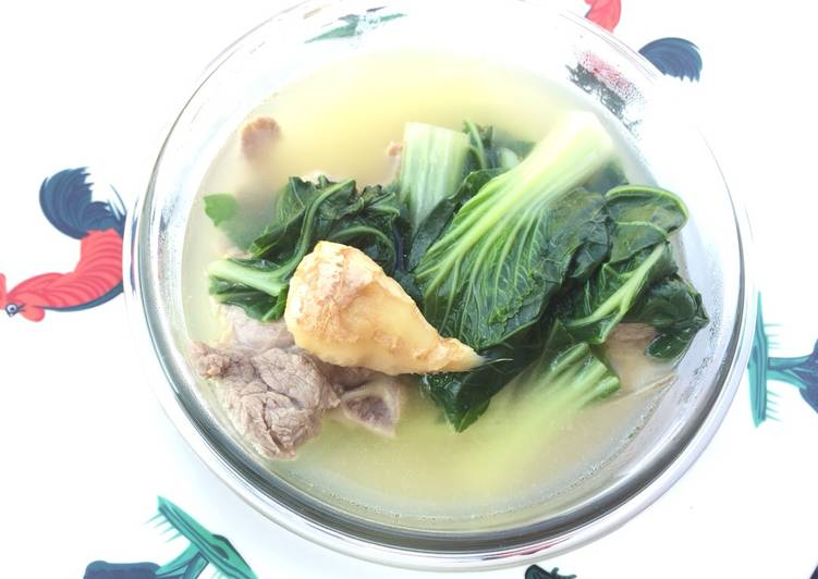 , Recipe: Perfect Bak Choy With Chinese Wine In Pork Soup