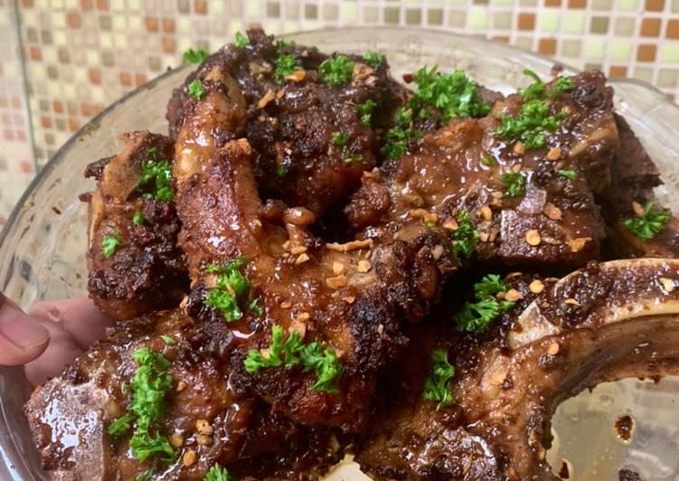 Turf It! The Filipino Style Sweet & Spicy Cajun Ribs w/ Cajun Fried Rice