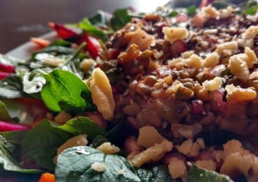 Green Gram Salad with raw veggies