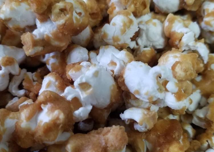 Caramel Air Popped Popcorn