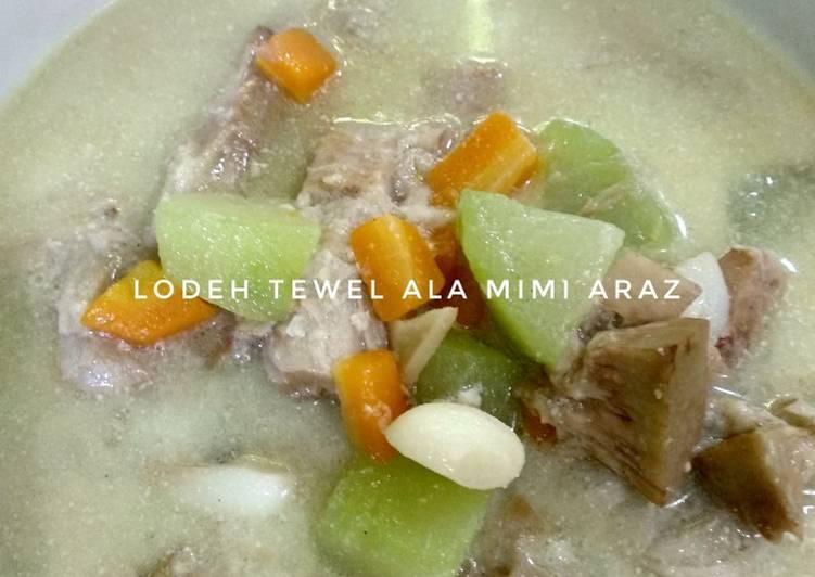 Lodeh Tewel Labu Wortel