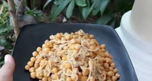 Garbazo chick peas with enoki mushroom tumisan kacang arab