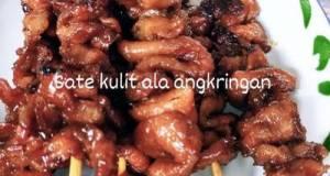 Sate Kulit Ayam Bumbu Bacem (ala Ala Angkringan)