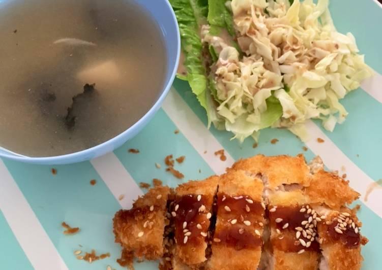 Chicken Katsu (with Tonkatsu Sauce)