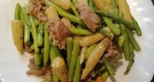 Sauteed Baby Corn And Asparagus